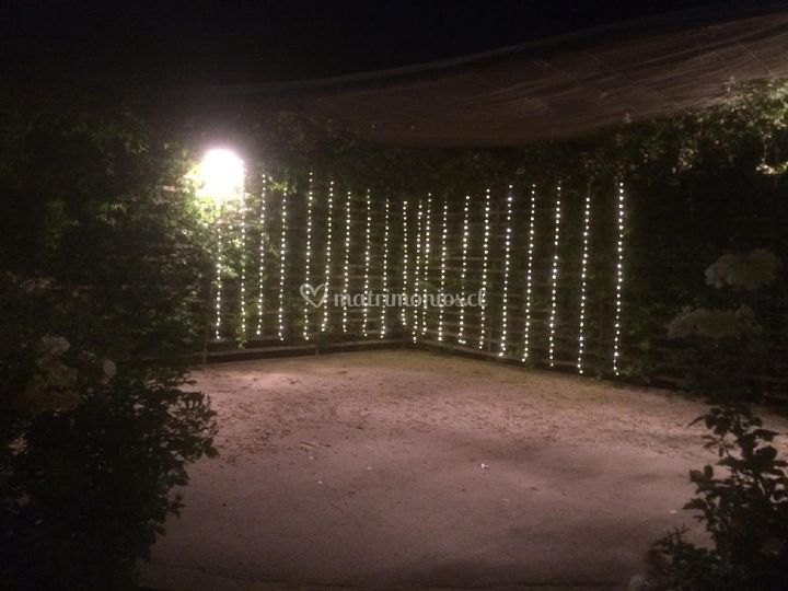 Cortina de luces hada...