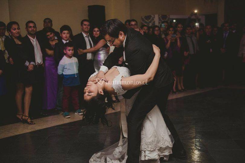 Baile romántico en acción