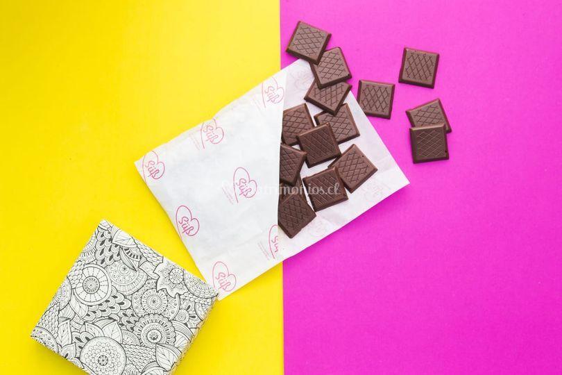 Láminas de chocolate 75 %