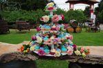 Torre de cupcakes campestre