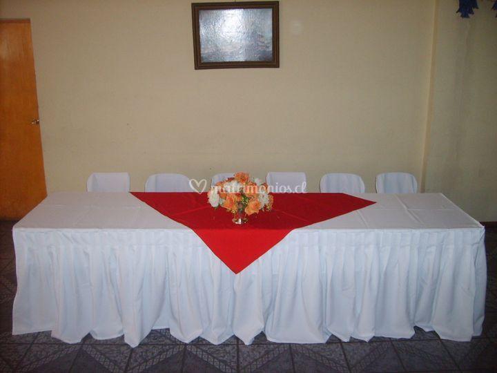 Mesa de honor mantel