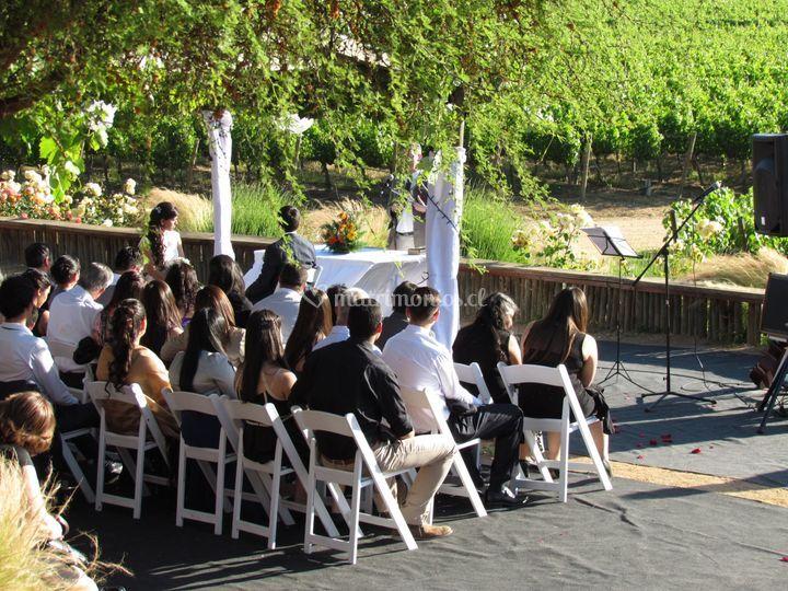 Ceremonia en Viña Chocalan