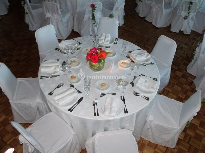 Decoración de mesas invitados