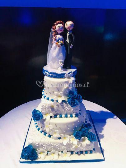 Torta de novios 100p