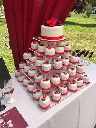 Mini tortas de novios