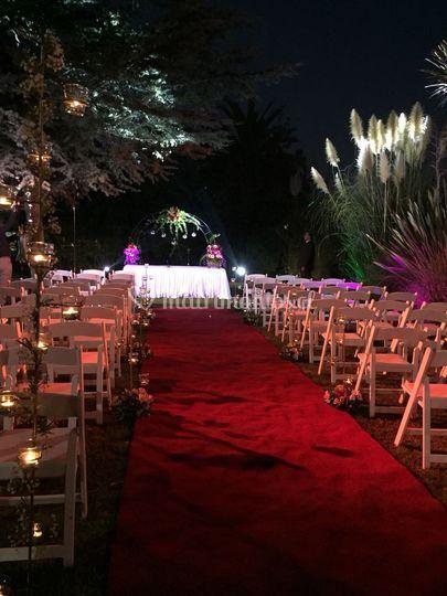 Ceremonia exterior noche