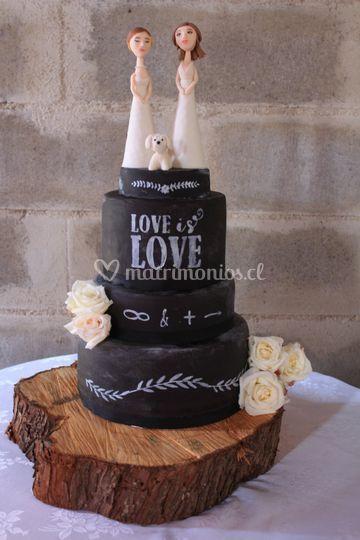 Torta estilo pizarra