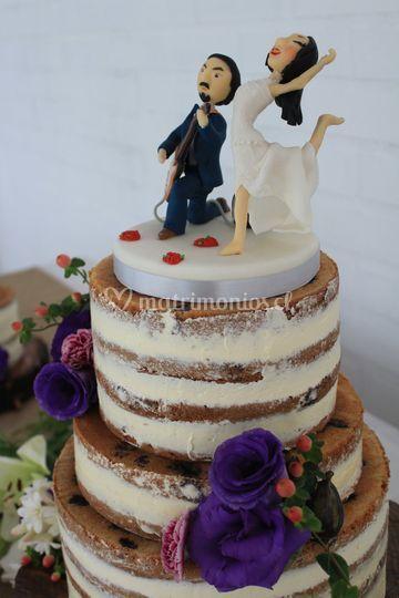Nude cake con flores