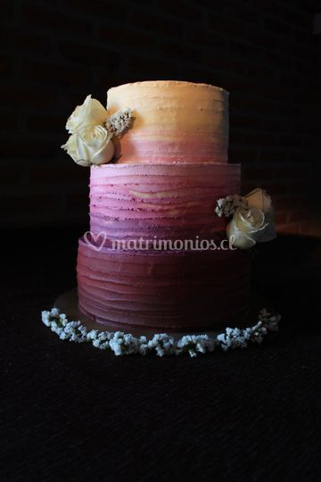 Torta degradé en buttercream
