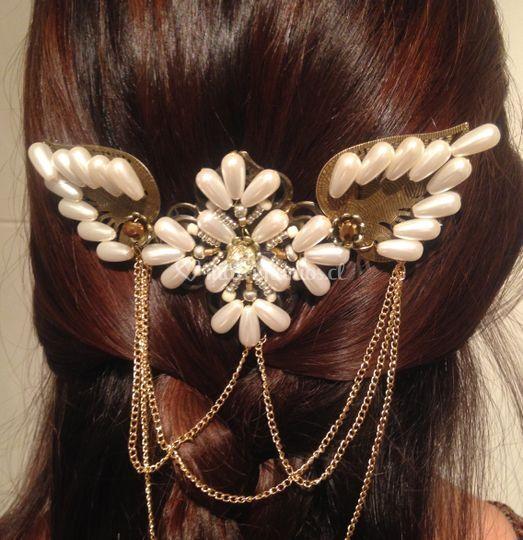 Tocado perlas