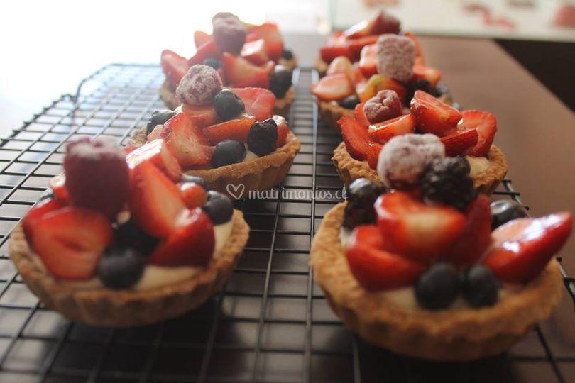Tartaleta individual de frutas