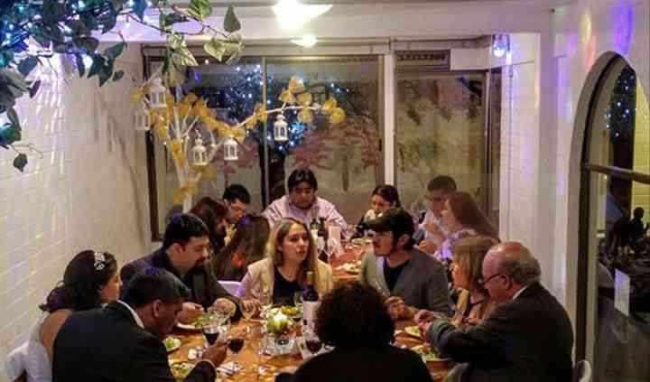Cena en boda
