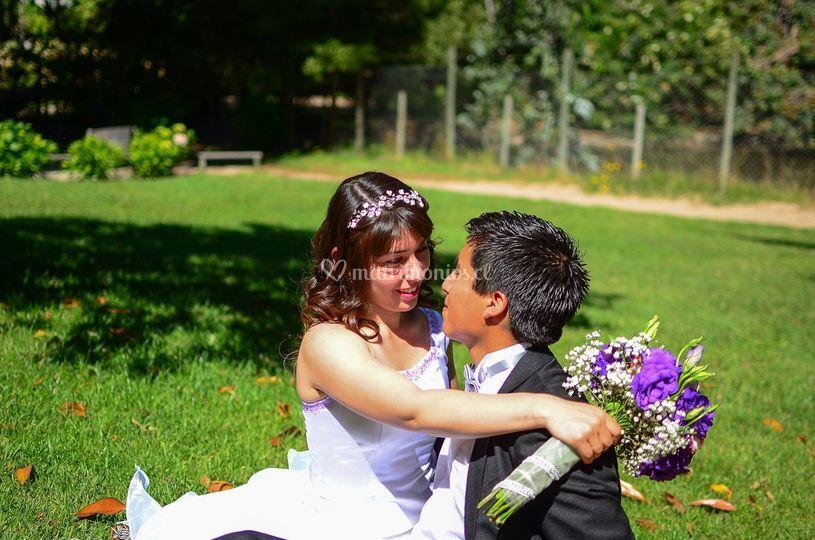 Alvaro y Caroline