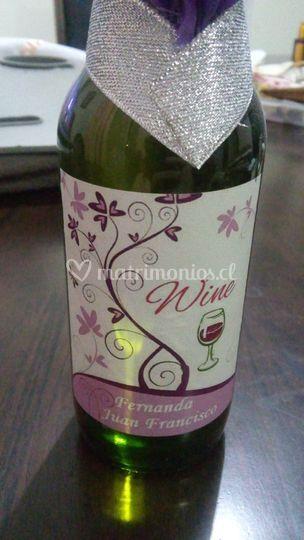 Botella vino personalizado
