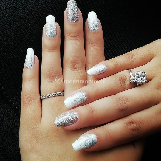Blanco + glitter