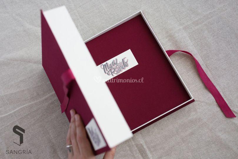 Álbum de fotos con caja