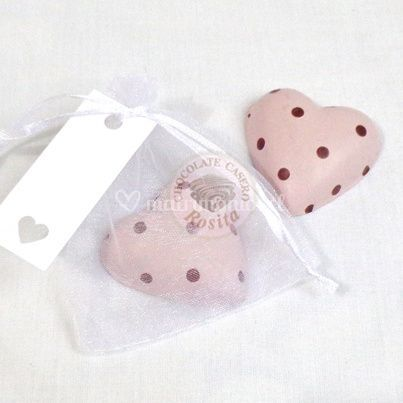 Corazón rosa puntos