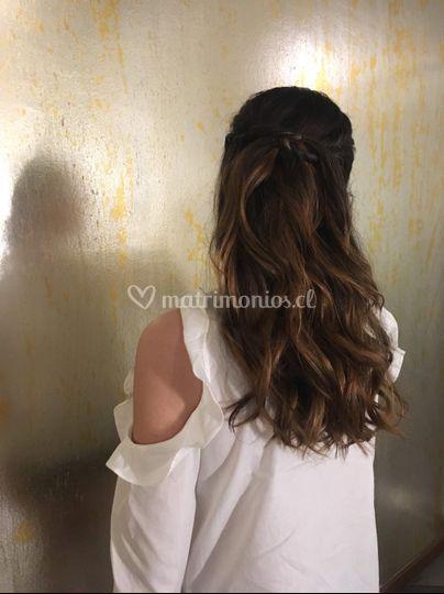 Peinado onda suelta