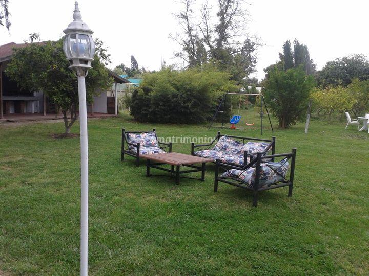 Áreas verdes  para los invitados