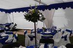 Carpa azul de Eventos El Rosarito