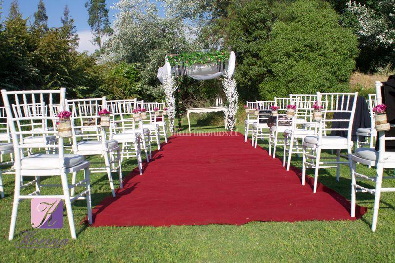 Ceremonia en el lugar
