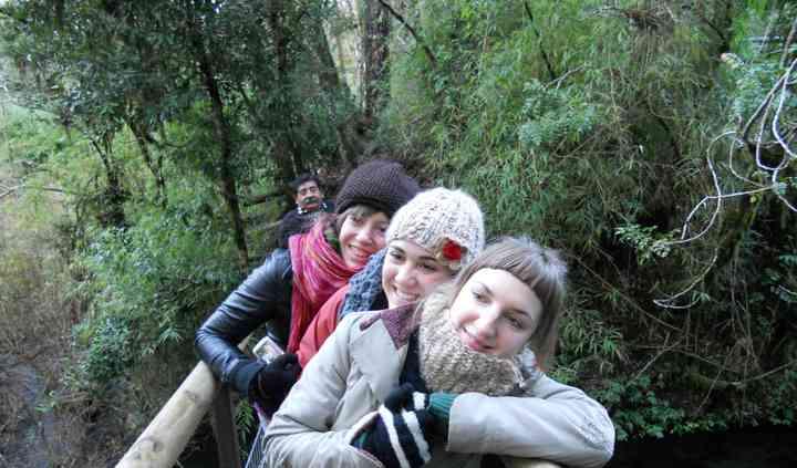 Turistas en Pucon