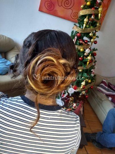 Peinado de rosa