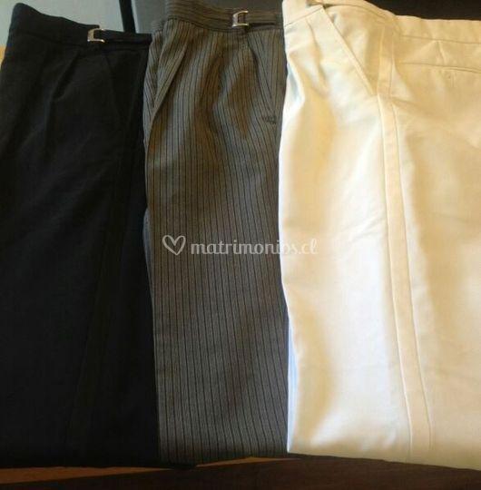 Pantalón negro, blanco o grafi