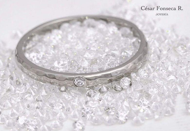 Oro blanco textura diamante