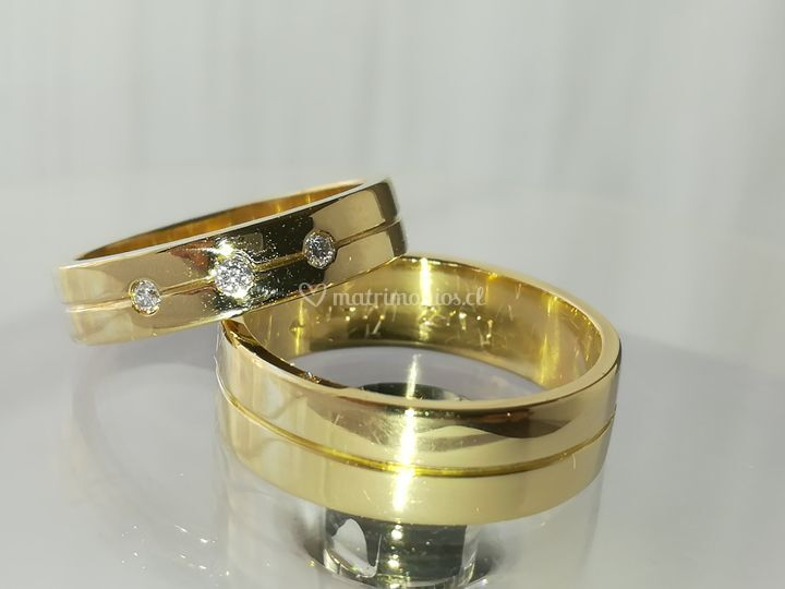 Oro amarillo diamantes