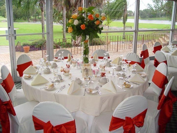 Ejemplo decoración mesas