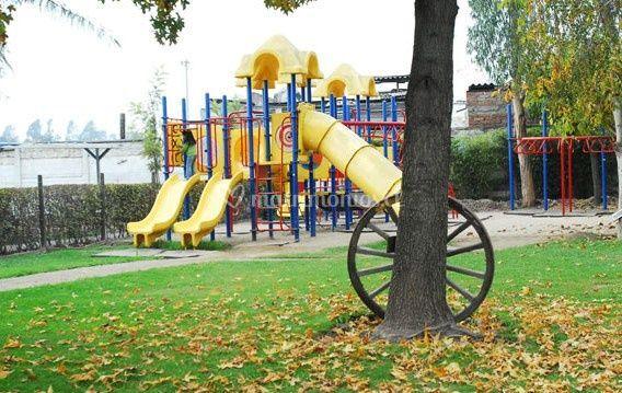 El parque con juegos
