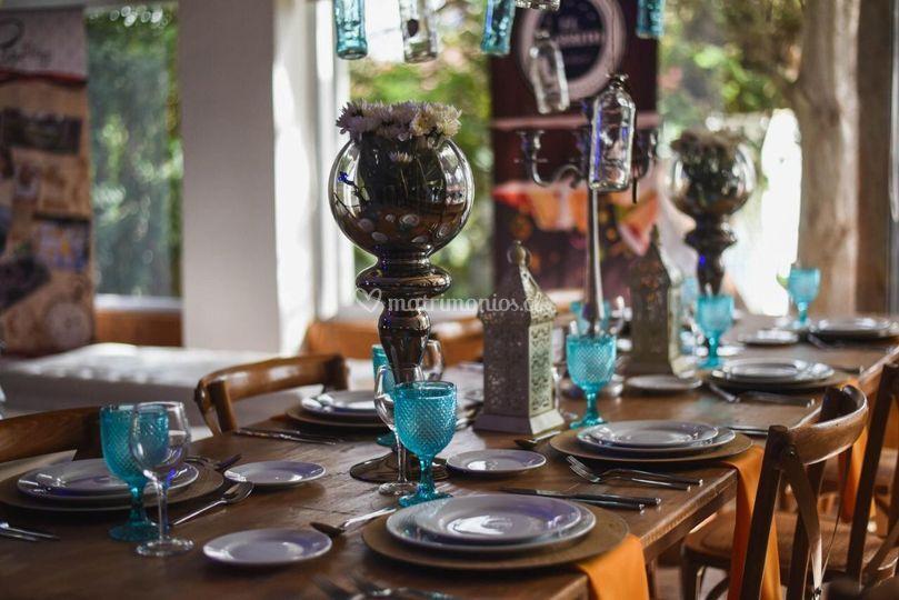 Novios & Bodas Rústico mesa