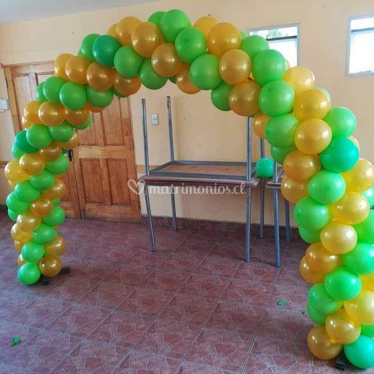 Arco de globos simple interior