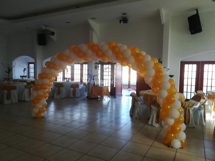 Arco de globos simple grande