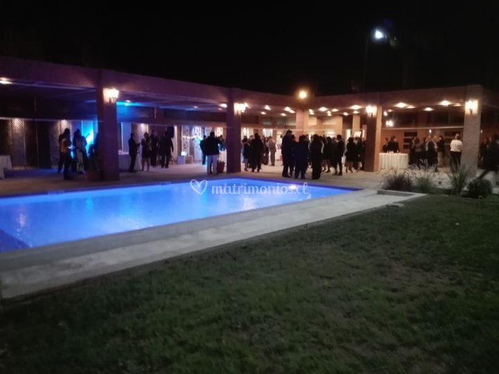 Terraza de piscina