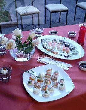 Platos de sushi