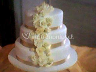 Torta rosas doradas