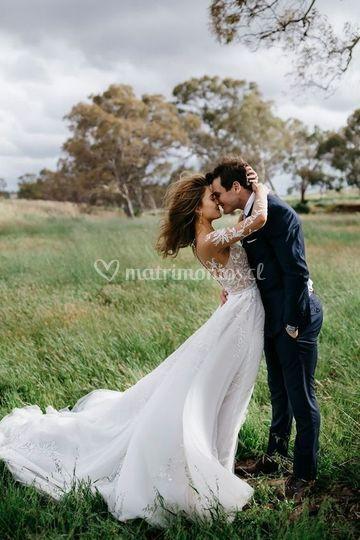 Sesión post boda en campo