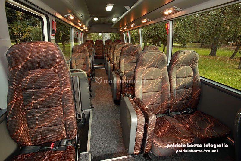 Van Daewoo 24 pax interior
