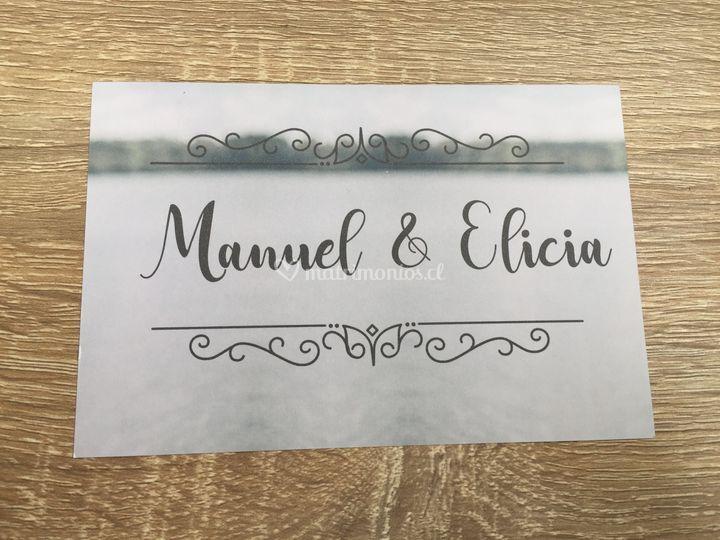 Revés parte matrimonio postal