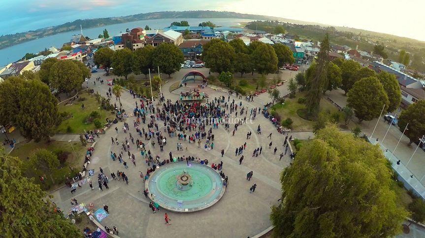 Evento en plaza de Castro
