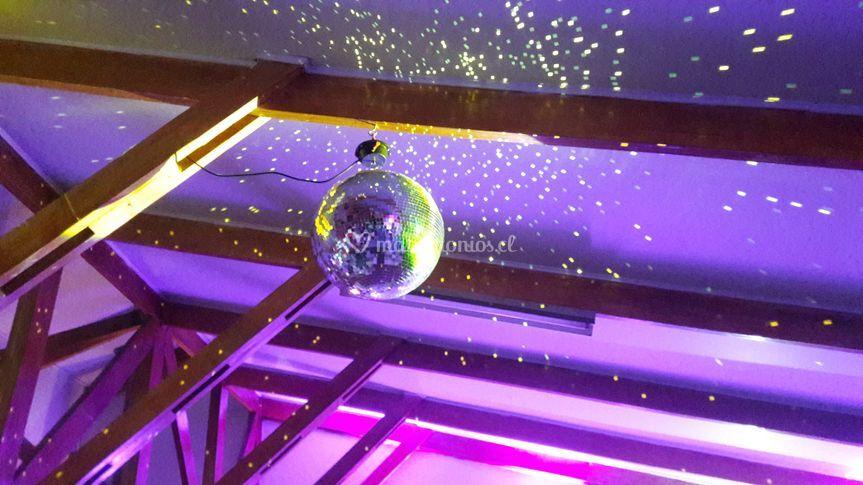 Esfera instalada en boda