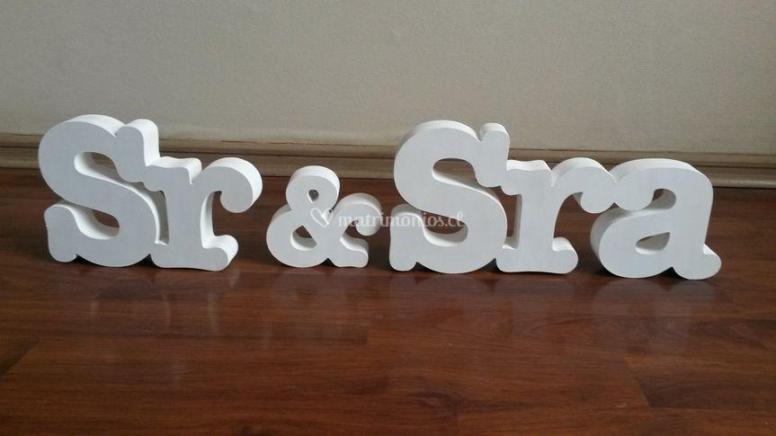 Letras 15cm dobles