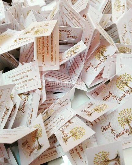 Etiquetas para souvenirs