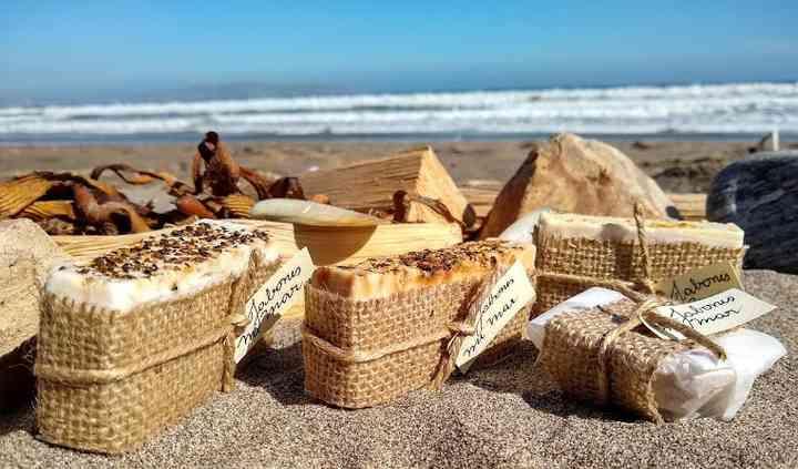 Jabones con agua de mar