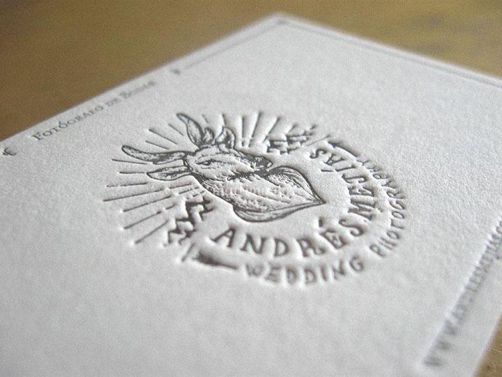 Letterpress en papel algodón
