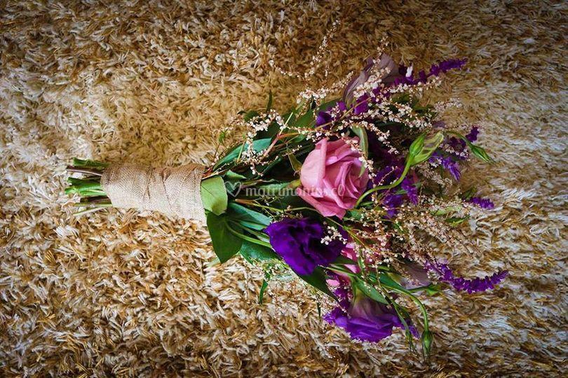 Ramo de novias campestre