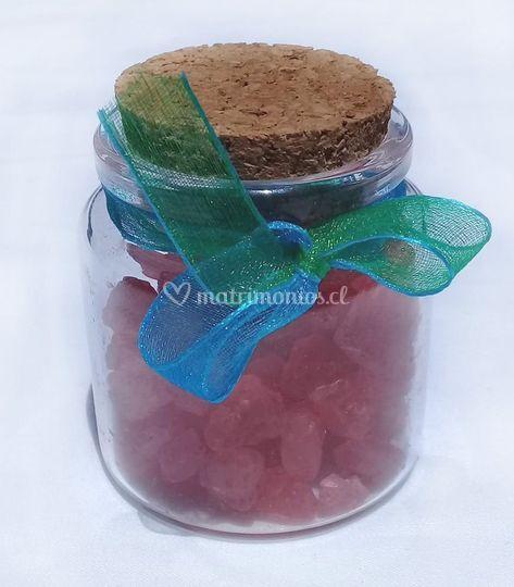 Frasco mini con sal de baño