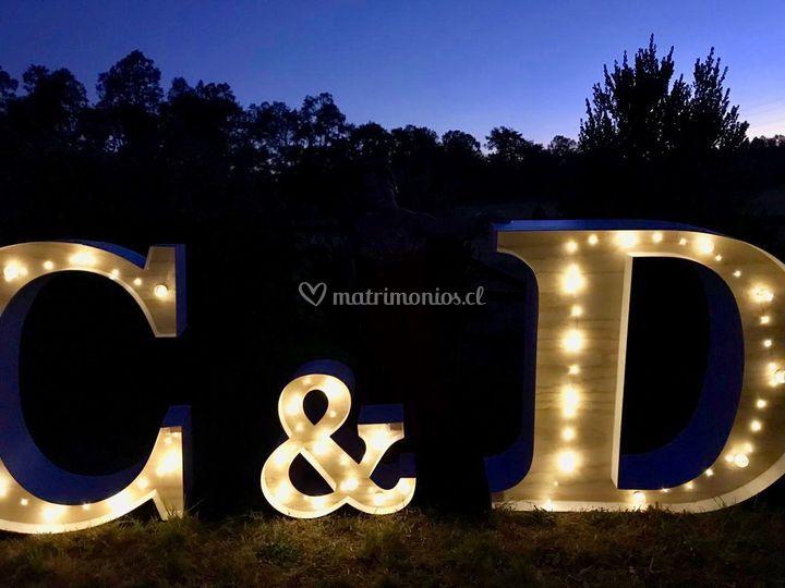Pack letras gigantes + luces